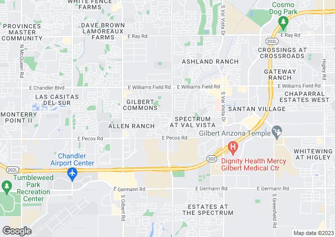 Map for Arizona, Maricopa County, Gilbert