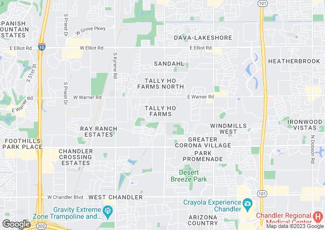 Map for Arizona, Maricopa County, Tempe