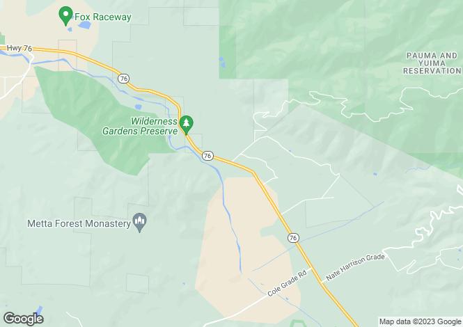 Map for California, San Diego County, Pauma Valley