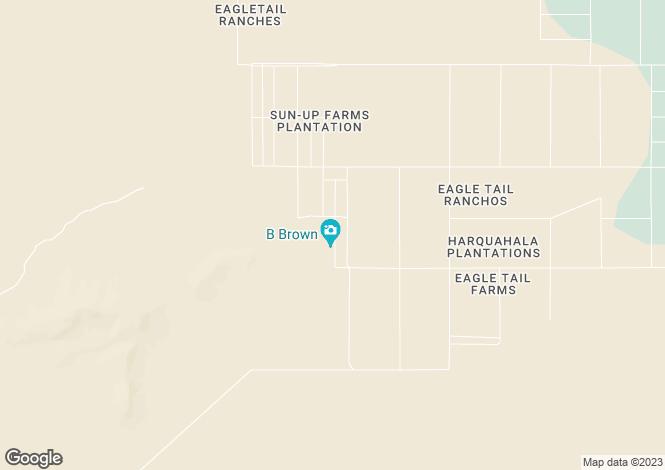 Map for Arizona, Maricopa County, Tonopah