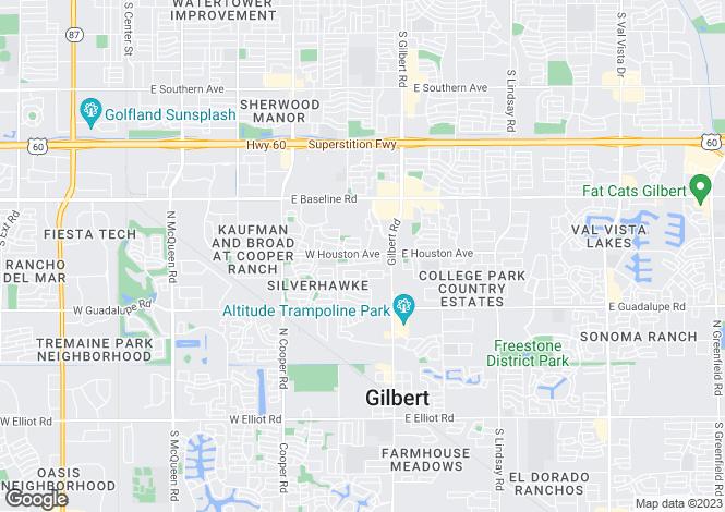 Map for USA - Arizona, Maricopa County, Gilbert