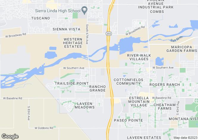 Map for Arizona, Maricopa County, Laveen