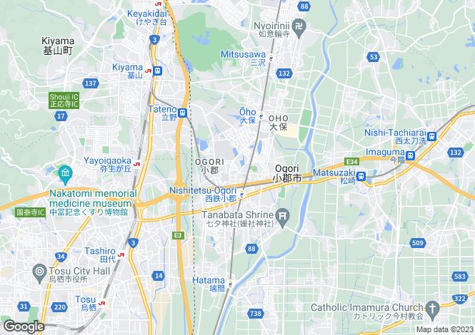 Map for Fukuoka, Ogori