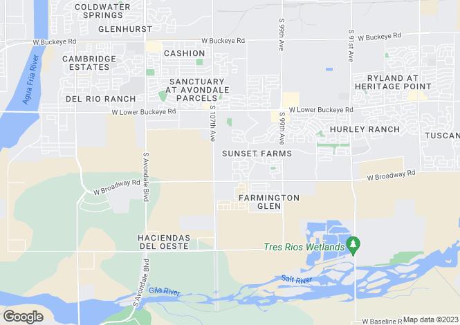Map for Arizona, Maricopa County, Tolleson