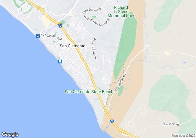 Map for California, Orange County, San Clemente