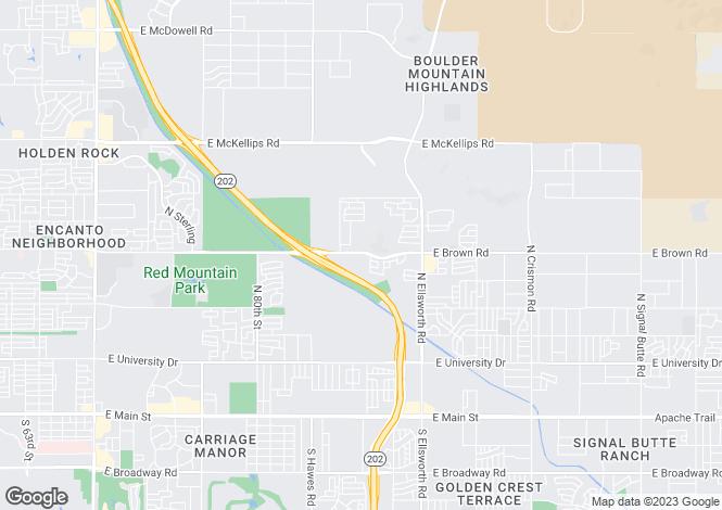 Map for Arizona, Maricopa County, Mesa