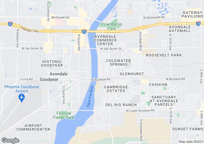 Map for Arizona, Maricopa County, Avondale