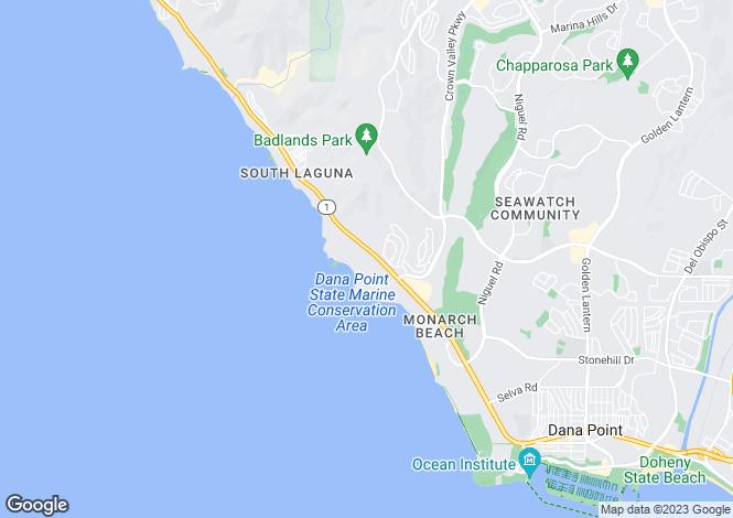 Map for California, Orange County, Dana Point