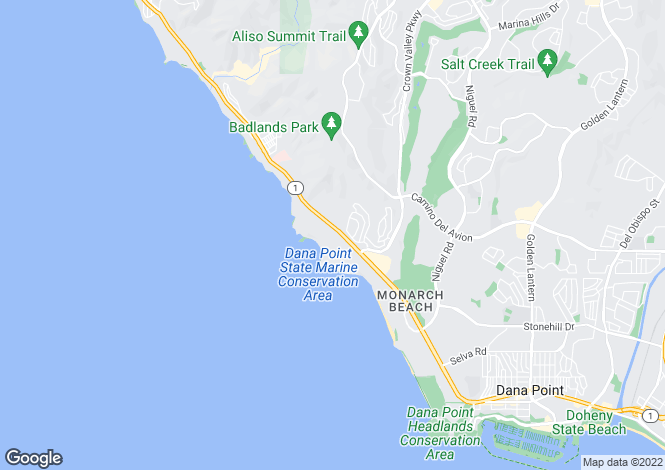 Map for California, Orange County, Dana Point