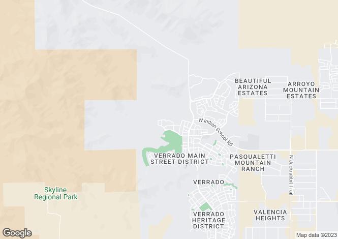 Map for Arizona, Maricopa County, Buckeye