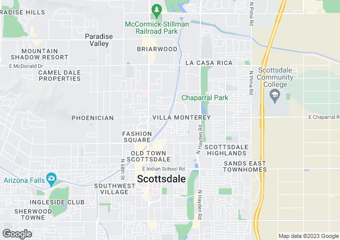 Map for USA - Arizona, Maricopa County, Scottsdale