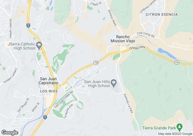 Map for California, Orange County, San Juan Capistrano