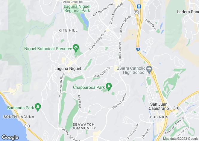 Map for California, Laguna Niguel
