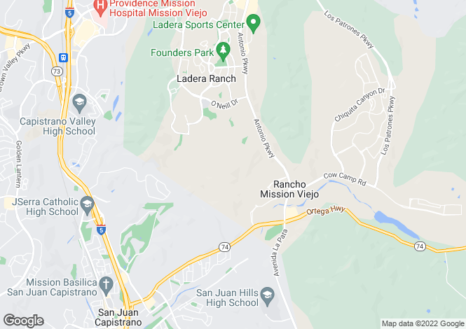 Map for California, Ladera Ranch