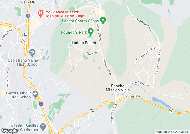 Map for California, Ladera Ranch