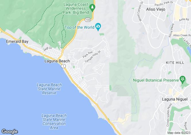 Map for California, Orange County, Laguna Beach