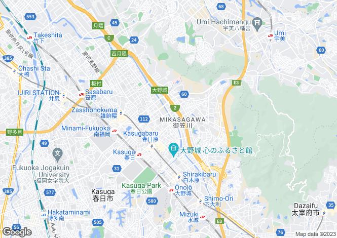 Map for Fukuoka, Yamada