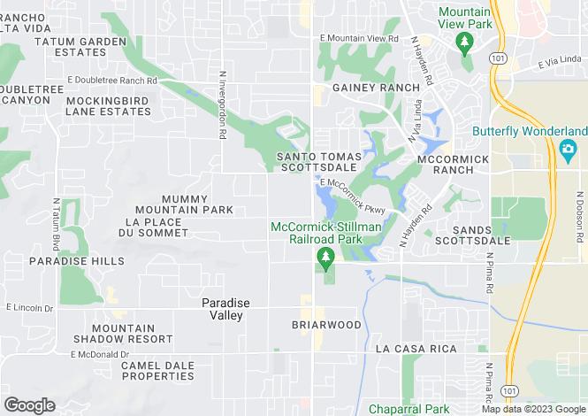 Map for Arizona, Maricopa County, Paradise Valley