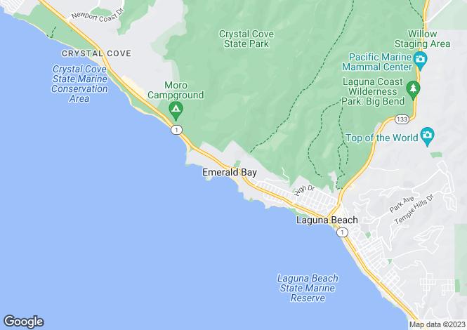 Map for USA - California, Orange County, Laguna Beach