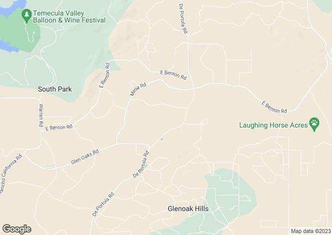 Map for California, Riverside County, Temecula