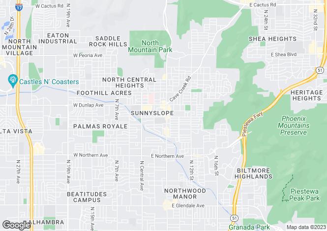 Map for USA - Arizona, Maricopa County, Phoenix