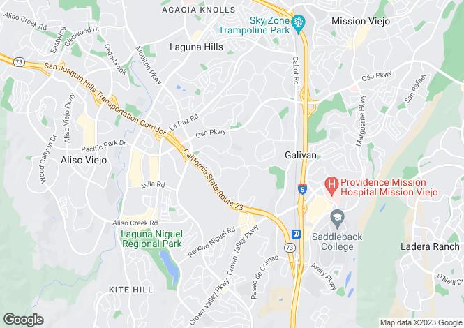 Map for California, Laguna Hills