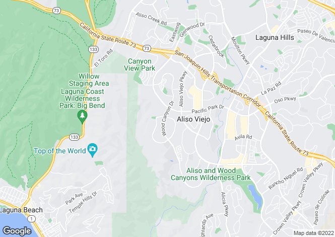Map for California, Aliso Viejo