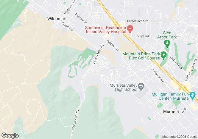 Map for USA - California, Riverside County, Murrieta