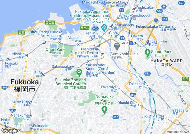 Map for Fukuoka