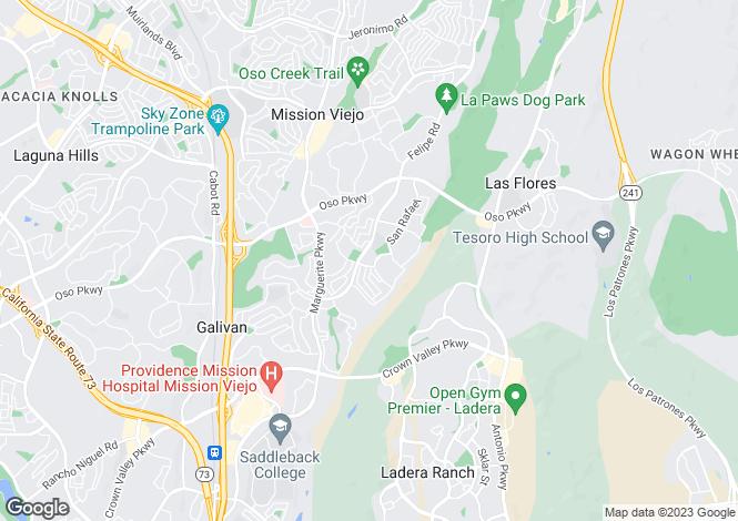 Map for USA - California, Orange County, Mission Viejo