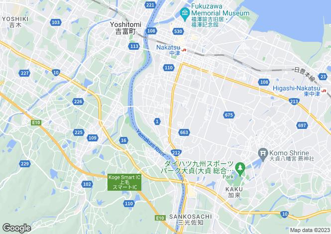 Map for Oita