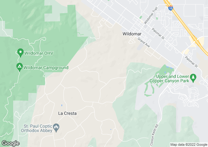 Map for California, Riverside County, Murrieta