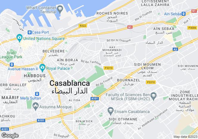 Map for Casablanca, Casablanca