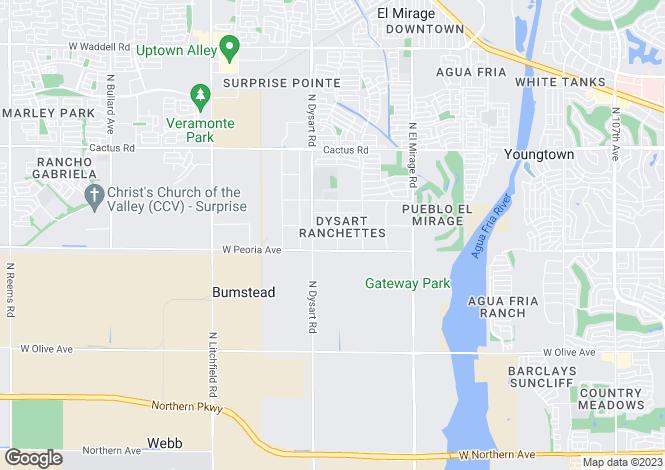 Map for Arizona, Maricopa County, El Mirage