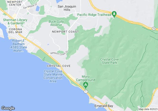 Map for California, Orange County, Newport Coast