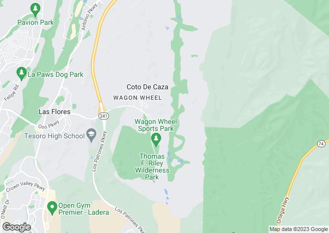 Map for California, Coto De Caza