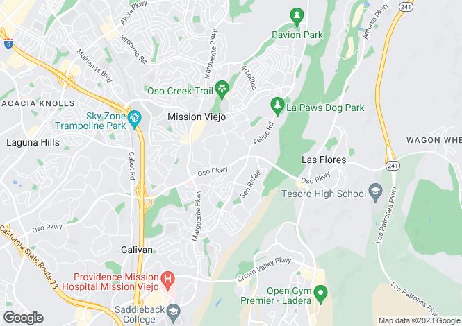Map for California, Orange County, Mission Viejo