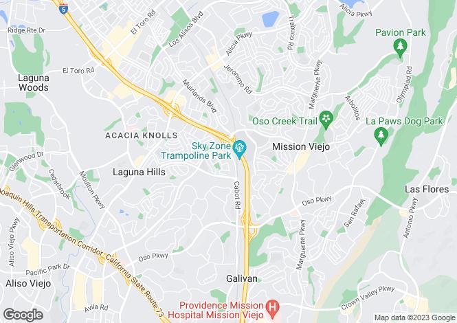 Map for USA - California, Laguna Hills