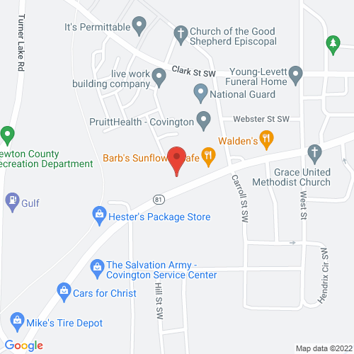 Map of 4180 Washington street, covington, ga 30014