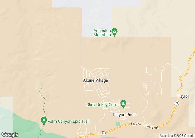 Map for California, Riverside County, Mountain Center