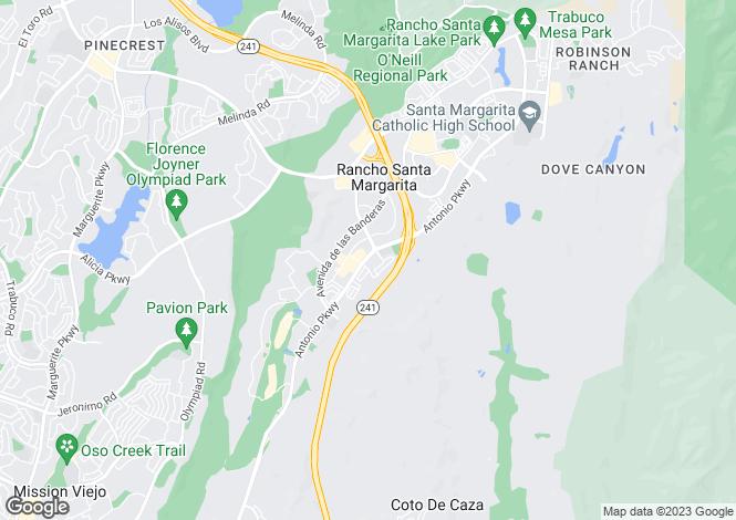 Map for California, Rancho Santa Margarita