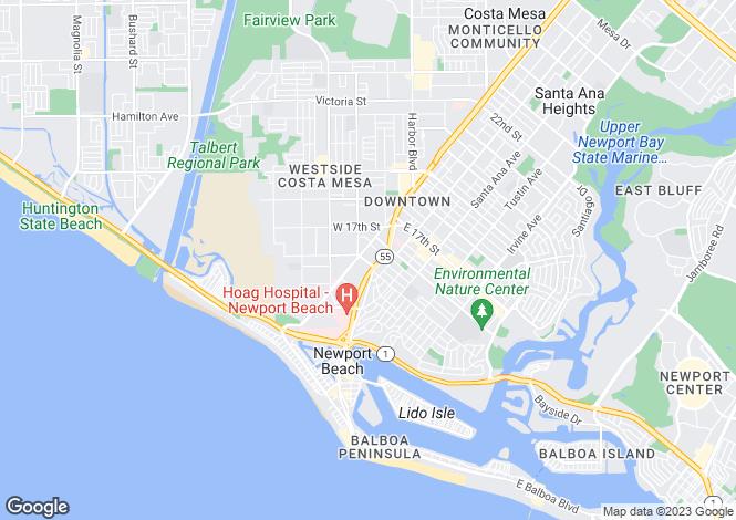 Map for California, Orange County, Costa Mesa