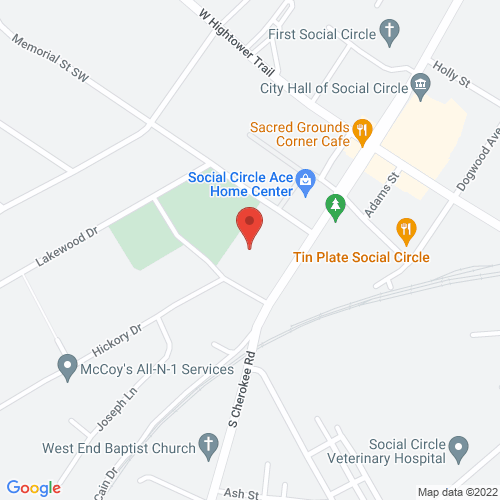 Map of 261 S Cherokee Rd, Social Circle, GA 30025