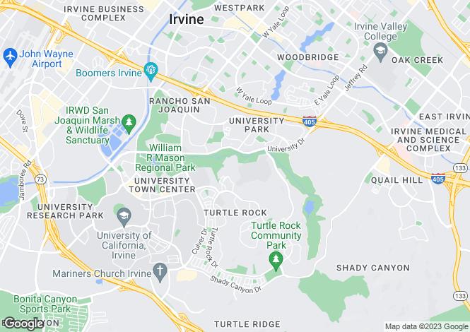 Map for California, Orange County, Irvine