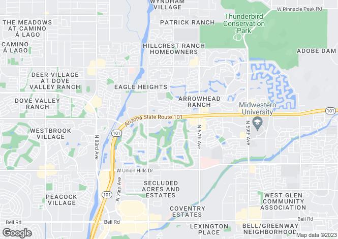 Map for Arizona, Maricopa County, Glendale