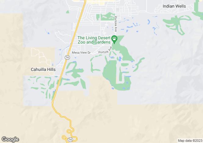 Map for California, Riverside County, Palm Desert