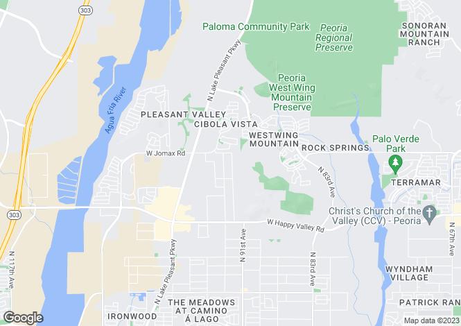 Map for Arizona, Maricopa County, Peoria