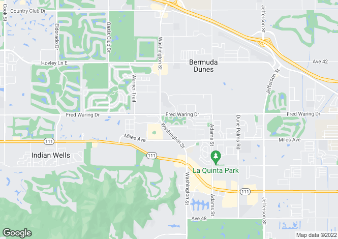 Map for California, Riverside County, La Quinta