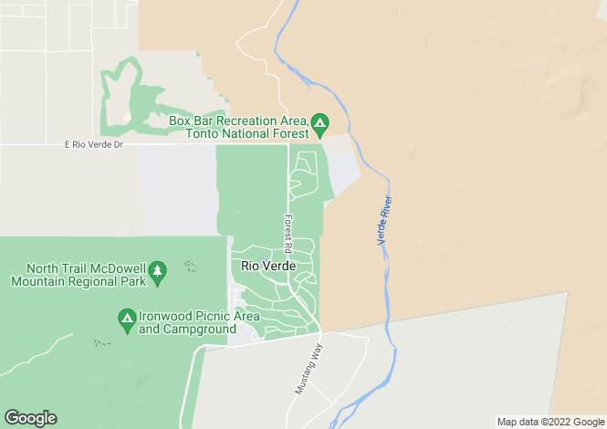 Map for Arizona, Maricopa County, Rio Verde