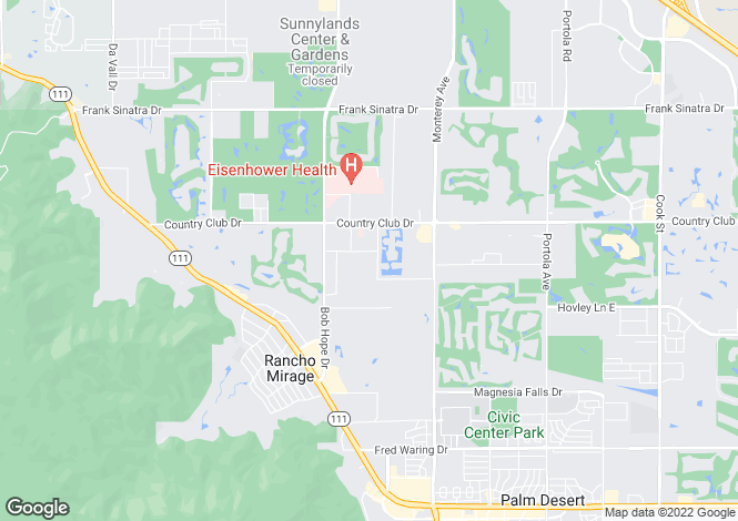 Map for California, Riverside County, Rancho Mirage